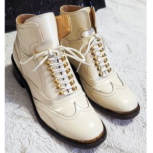 Purified Patti 9 Patent Leather Lace Up Ankle Boot
